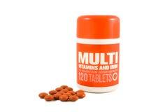 Multi Vitamine und Eisen lizenzfreie stockfotos