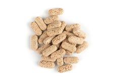 Multi Vitamintabletten auf Weiß Stockfotografie