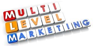 Multi waagerecht ausgerichtetes Marketing Lizenzfreies Stockfoto