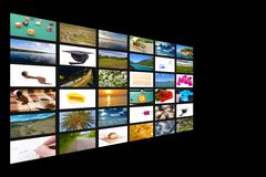 Multichannel television concept Royalty Free Stock Image