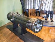 Multicharged metalu lany działo Muzeum Orsay Fotografia Royalty Free