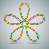 Multicilor Celtic Laced Rope Shape Stock Images