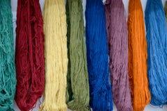 Multicilored wool fibers_ Royalty Free Stock Image