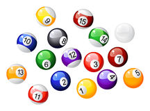 Multicoloder billiard balls Royalty Free Stock Photos