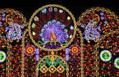 Multicolor światło dekoracja Zdjęcia Royalty Free