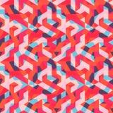Multicolor абстрактная картина Мемфиса безшовная Современное геометрическое в стиле битника Стоковое Изображение