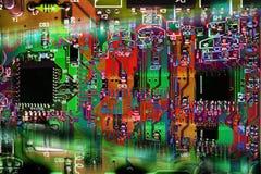 multicolor абстрактной цепи доски электронное Стоковое Изображение
