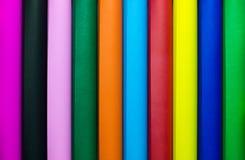 Multicolor бумага крена красиво положена вне Стоковое Фото