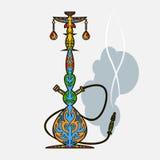 Multicolor восточный кальян дизайна Стоковые Изображения RF