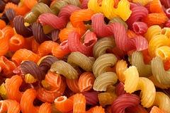 Multicolor высушите предпосылку макаронных изделий свирли Стоковое Изображение