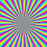 Multicolor гипнотическая текстура круга иллюстрация штока