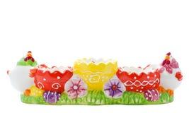 Multicolor держатель пасхального яйца Стоковое Фото