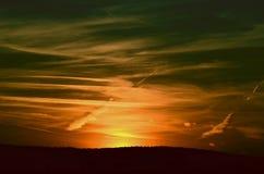 Multicolor заход солнца Стоковая Фотография RF