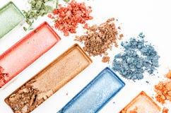 Multicolor задавленные великолепные тени для век Стоковые Фото