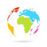 Multicolor значок глобуса иллюстрация вектора