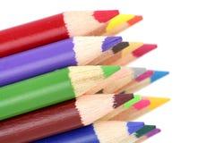 multicolor карандаши Стоковые Фотографии RF