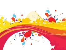 Multicolor конспект вектора развевает на белой предпосылке Стоковое фото RF