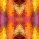 Multicolor красная, желтая, оранжевая полигональная иллюстрация, которая состоит из треугольников Геометрическая картина в стиле  Стоковое Фото