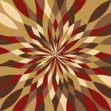 Multicolor мозаики радиальное иллюстрация вектора