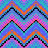 Multicolor нарисованный рукой зигзаг картины иллюстрация штока