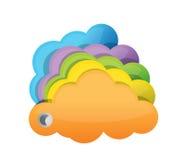 Multicolor облака Стоковое Фото