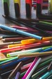 Multicolor отметки для рисовать Стоковая Фотография