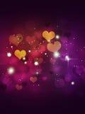 Multicolor расплывчатые сердца Стоковые Изображения