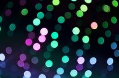 Multicolor сияющее bokeh Стоковое фото RF