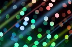 Multicolor сияющее bokeh Стоковое Изображение RF