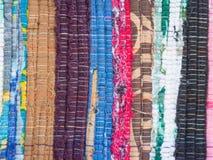 Multicolor текстура ткани Стоковая Фотография