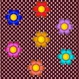Multicolor цветки 3D Стоковая Фотография RF