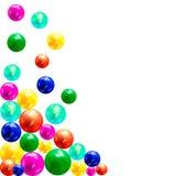 Multicolor шарики 3D Стоковая Фотография