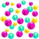 Multicolor шарики 3D Стоковые Изображения