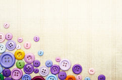 Multicolor шить кнопки Стоковые Изображения