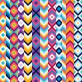 Multicolor этническая картина нашивки Стоковые Изображения RF
