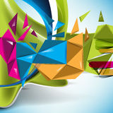Multicolor 3d abstract background Stock Images