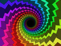 Multicolor 3d tunnel Royalty Free Stock Images