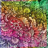 Абстрактная multicolor флористическая предпосылка Стоковая Фотография RF