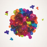 Multicolor abstract background Stock Images