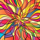Multicolor abstract background. With flower at centre Royalty Free Stock Image