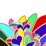 Multicolor abstract background Royalty Free Stock Photos
