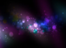 Multicolor abstract background with bokeh lights Stock Photography