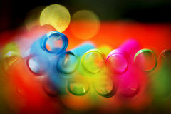 Multicolor abstract background. With a drinking straws ends - blur effect Royalty Free Stock Image
