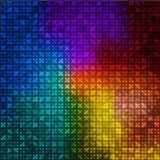 Multicolor abstract background. Of squares and luminous dots Vector Illustration