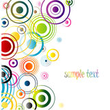 Multicolor abstract background. Vector. Beautiful multicolor background with many circles in the diferent color Stock Image