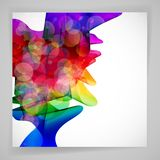 Multicolor abstract bright background. Elements for design. Eps10 Royalty Free Stock Image