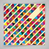 Multicolor abstract bright background with triangles. Royalty Free Stock Photos