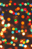 Multicolor abstract Christmas lights fireworks Stock Photos