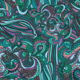 Multicolor Abstract ethnic swirl  seamless pattern Royalty Free Stock Photos
