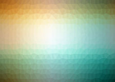 Multicolor abstract geometric rumpled triangular low poly style illustration Stock Photography